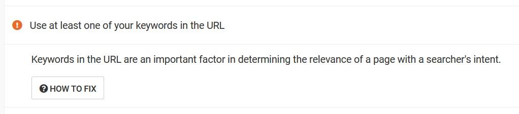 Web CEO use keyword in URL
